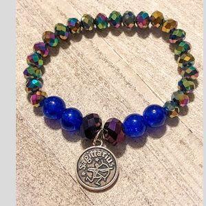 Sagittarius Zodiac Sign Beaded Charm Bracelet